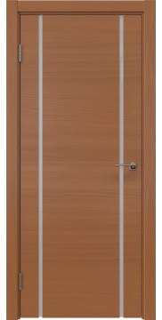 Межкомнатная дверь, ZM017 (шпон анегри, триплекс белый)