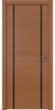 Межкомнатная дверь ZM017 (шпон анегри / триплекс черный) — 5444