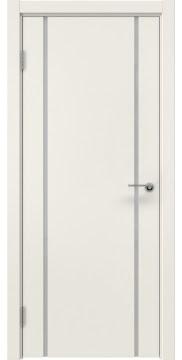 Межкомнатная дверь, ZM017 (эмаль слоновая кость, триплекс белый)