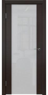 Межкомнатная дверь ZM018 (шпон венге / триплекс белый) — 5471