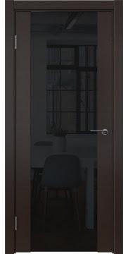 Межкомнатная дверь ZM018 (шпон венге / триплекс черный) — 5472