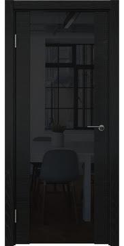 Межкомнатная дверь ZM018 (шпон ясень черный / триплекс черный) — 5786