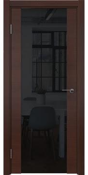 Межкомнатная дверь ZM018 (шпон итальянский орех / триплекс черный) — 5782