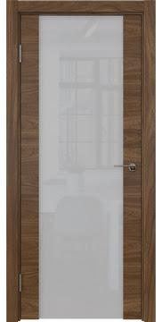 Межкомнатная дверь ZM018 (шпон американский орех / триплекс белый) — 5779