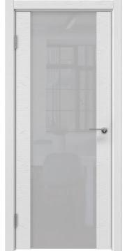 Межкомнатная дверь ZM018 (шпон ясень светло-серый / лакобель белый) — 5900