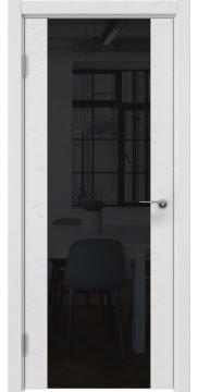 Межкомнатная дверь ZM018 (шпон ясень светло-серый / лакобель черный) — 5901