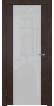 Межкомнатная дверь ZM018 (шпон дуб коньяк / триплекс белый) — 5455