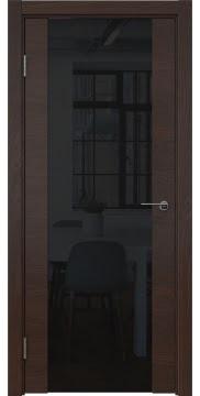 Межкомнатная дверь ZM018 (шпон дуб коньяк / триплекс черный) — 5456