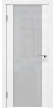 Межкомнатная дверь ZM018 (шпон ясень белый) / триплекс белый) — 5459