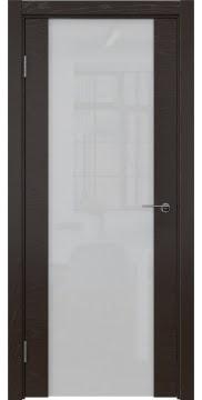 Межкомнатная дверь ZM018 (шпон ясень темный / триплекс белый) — 5463
