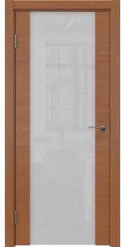 Межкомнатная дверь ZM018 (шпон анегри / триплекс белый) — 5467