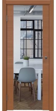 Межкомнатная дверь ZM018 (шпон анегри / зеркало) — 5892