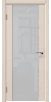 Межкомнатная дверь ZM018 (шпон беленый дуб / триплекс белый) — 5469