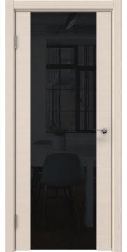Межкомнатная дверь ZM018 (шпон беленый дуб / триплекс черный) — 5470