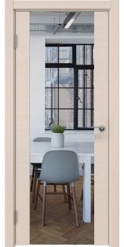 Межкомнатная дверь ZM018 (шпон дуб беленый / зеркало) — 5894