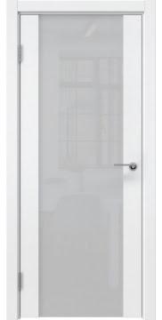 Межкомнатная дверь, ZM018 (эмаль белая, триплекс белый)