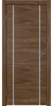 Межкомнатная дверь ZM020 (шпон американский орех / триплекс белый) — 5775