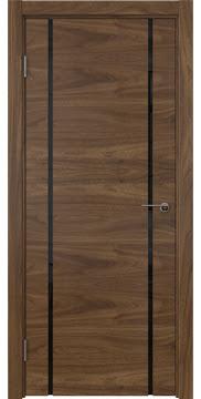 Межкомнатная дверь ZM020 (шпон американский орех / триплекс черный) — 5776