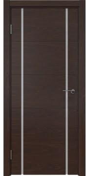 Межкомнатная дверь ZM020 (шпон дуб коньяк / триплекс белый) — 5499