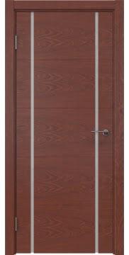 Межкомнатная дверь, ZM020 (шпон красное дерево, триплекс белый)