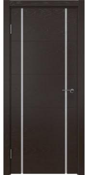 Межкомнатная дверь ZM020 (шпон ясень темный / триплекс белый) — 5507