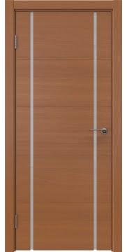 Межкомнатная дверь, ZM020 (шпон анегри, триплекс белый)