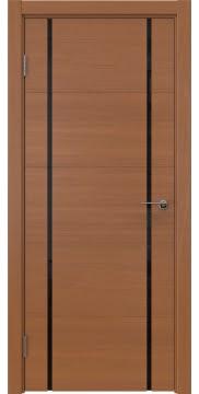 Межкомнатная дверь, ZM020 (шпон анегри, триплекс черный)