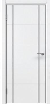 Межкомнатная дверь, ZM020 (эмаль белая, триплекс белый)