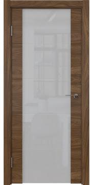 Межкомнатная дверь ZM021 (шпон американский орех / триплекс белый) — 5783
