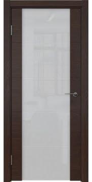 Межкомнатная дверь ZM021 (шпон дуб коньяк / триплекс белый) — 5519