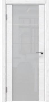 Межкомнатная дверь ZM021 (шпон ясень белый) / триплекс белый) — 5523