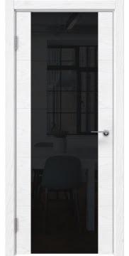 Межкомнатная дверь ZM021 (шпон ясень белый) / триплекс черный) — 5524