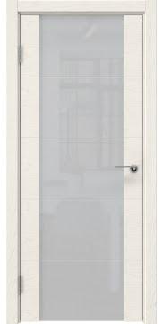 Межкомнатная дверь ZM021 (шпон ясень слоновая кость / триплекс белый) — 5525