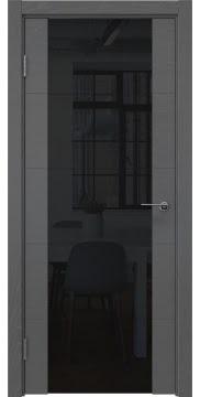 Межкомнатная дверь ZM021 (шпон ясень серый / триплекс черный) — 5530
