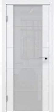 Межкомнатная дверь, ZM021 (эмаль белая, триплекс белый)