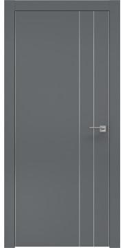 Межкомнатная дверь ZM023 (экошпон «графит» / глухая) — 0938