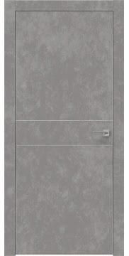 Межкомнатная дверь ZM024 (экошпон «бетон» / глухая) — 0942