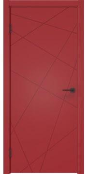 Межкомнатная дверь, ZM031 (эмаль красная, глухая)