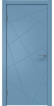 Межкомнатная дверь, ZM031 (эмаль синяя, глухая)