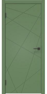 Межкомнатная дверь ZM031 (эмаль RAL 6011, глухая) — 2185
