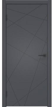 Межкомнатная дверь, ZM031 (эмаль серая, глухая)
