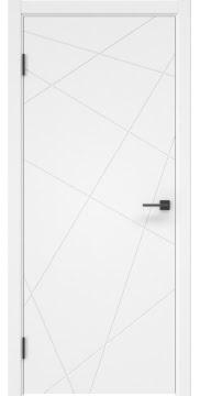 Межкомнтаная дверь ZM031 (эмаль белая, глухая)