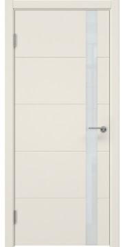 Межкомнатная дверь ZM033 (эмаль слоновая кость, лакобель белый) — 7028