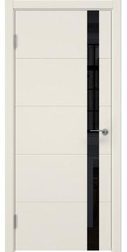Межкомнатная дверь ZM033 (эмаль слоновая кость, лакобель черный) — 7027