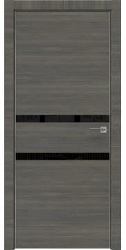 Межкомнатная дверь ZM034 (экошпон ольха, лакобель черный) — 3001