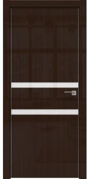 Межкомнатная дверь ZM034 (венге глянцевая, лакобель белый) — 3007