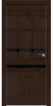 Межкомнатная дверь ZM034 (венге глянцевая, лакобель черный) — 3006