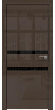 Межкомнатная дверь ZM034 (шоколад глянцевая, лакобель черный) — 3008