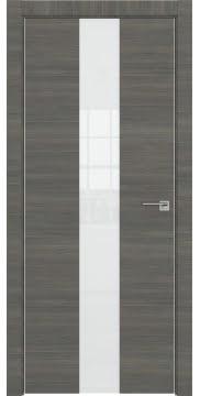 Межкомнатная дверь ZM035 (экошпон ольха, лакобель белый) — 3011