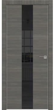 Межкомнатная дверь ZM035 (экошпон ольха, лакобель черный) — 3010